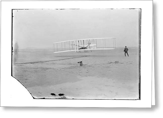 Negative Greeting Cards - 1903 Wright Brothers First Flight Greeting Card by MMG Archives