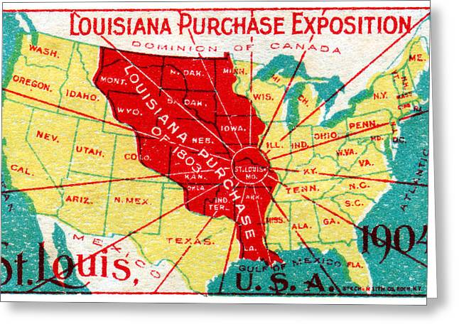 Recently Sold -  - Purchase Greeting Cards - 1904 Louisiana Purchase Exposition Greeting Card by Historic Image