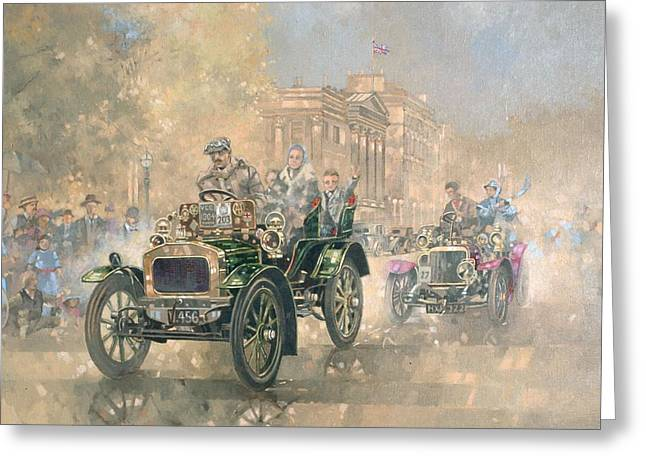 West End Greeting Cards - 1904 Norfolk Oil On Canvas Greeting Card by Peter Miller