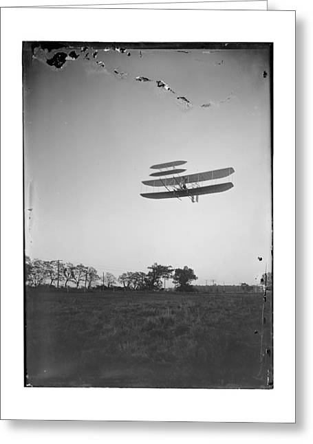 Pilot Greeting Cards - 1905 Orville Wright Piloting Plane Greeting Card by MMG Archives