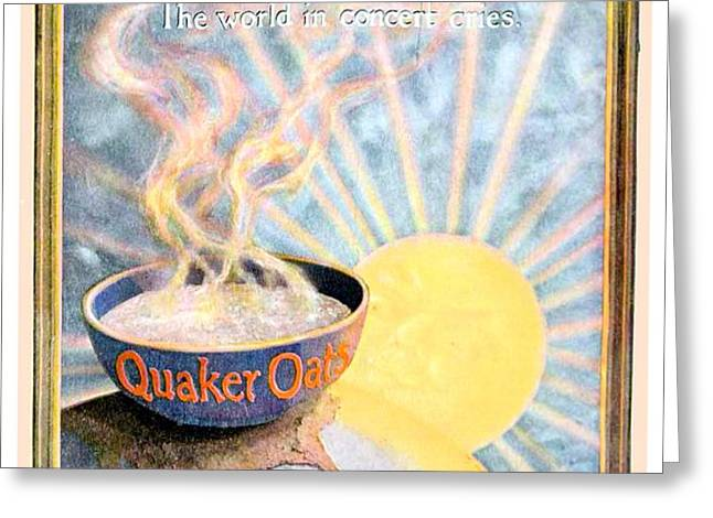 1906 - Quaker Oats Cereal Advertisement - Color Greeting Card by John Madison
