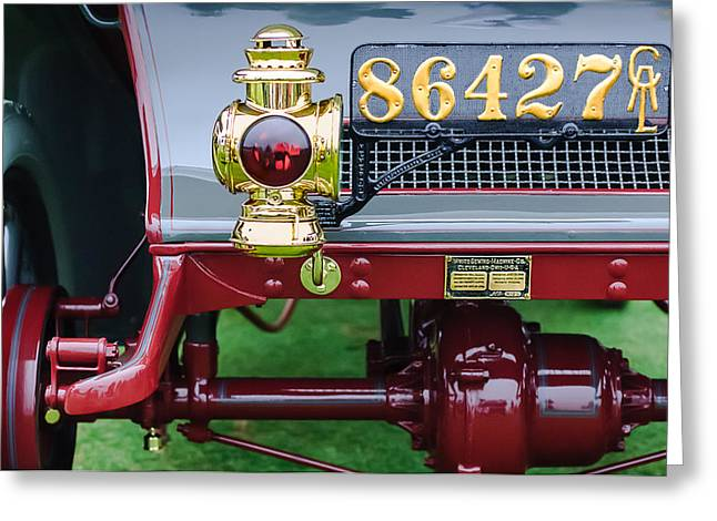 1906 Greeting Cards - 1906 White Model F Roi des Belges Touring Rear Lamp Greeting Card by Jill Reger