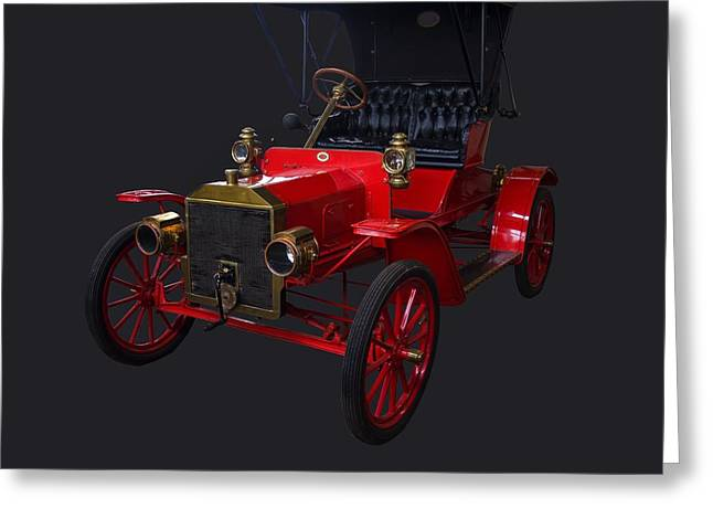 1907 Greeting Cards - 1907 Ford Model R Greeting Card by Chris Flees