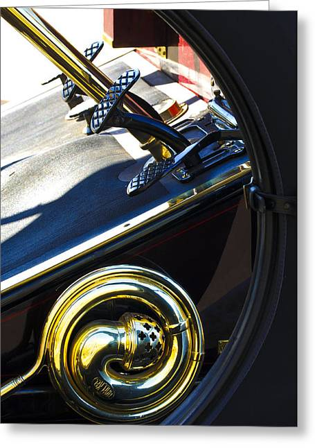 1907 Greeting Cards - 1907 Panhard et Levassor Demi Toneau 38 HP Horn Greeting Card by Jill Reger