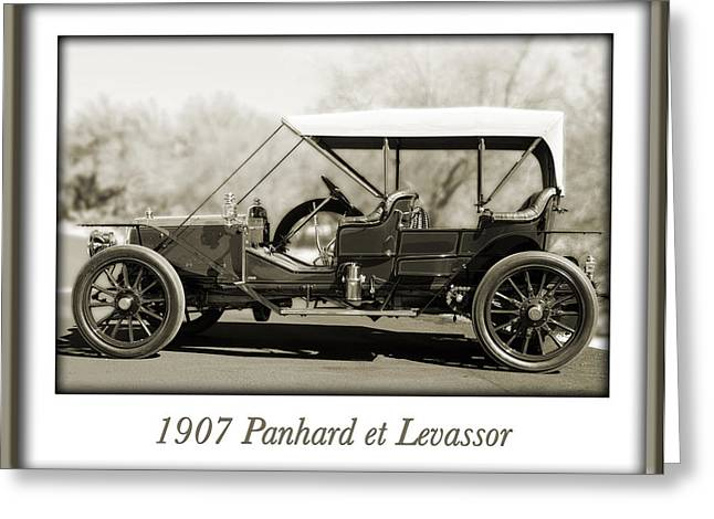 1907 Greeting Cards - 1907 Panhard et Levassor Greeting Card by Jill Reger