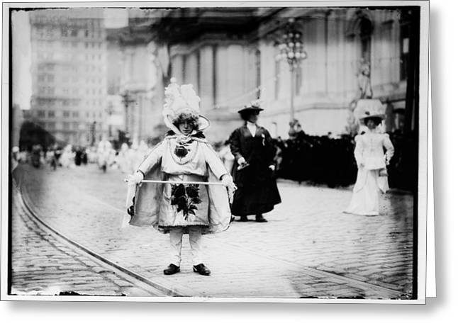 Broad Street Digital Art Greeting Cards - 1909 Mummers Parade Greeting Card by Bill Cannon