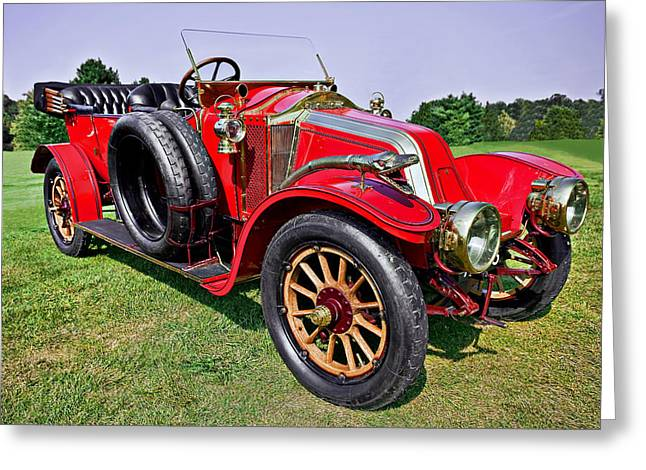 Up And Coming Greeting Cards - 1909-renault Type A-1 Torpedo Greeting Card by Marcia Colelli