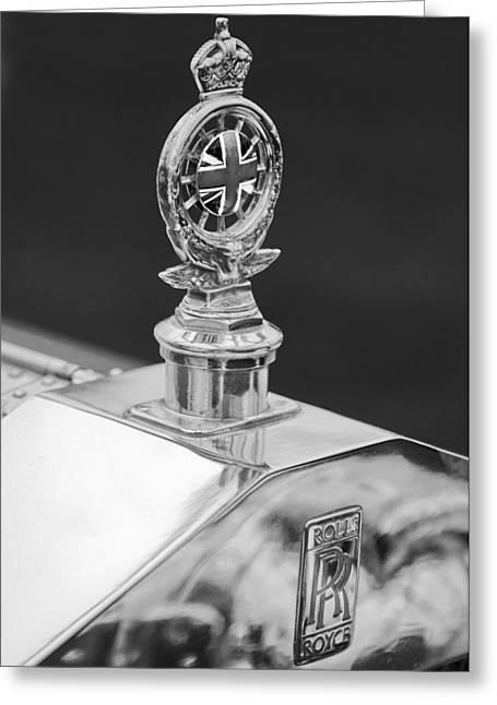 Collector Hood Ornament Greeting Cards - 1909 Rolls-Royce Silver Ghost 3 Greeting Card by Jill Reger
