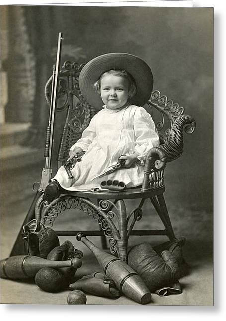 Tomboy Greeting Cards - 1910 American Tomboy Greeting Card by Historic Image