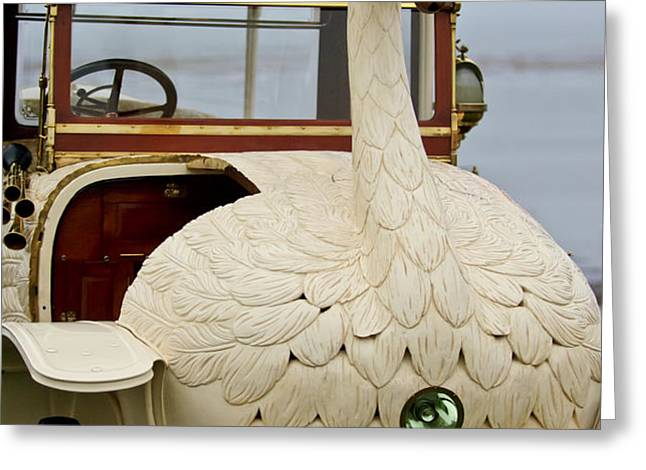 1910 Brooke Swan Car Greeting Card by Jill Reger