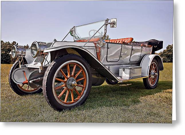 Up And Coming Greeting Cards - 1910 Franklin Model H Greeting Card by Marcia Colelli