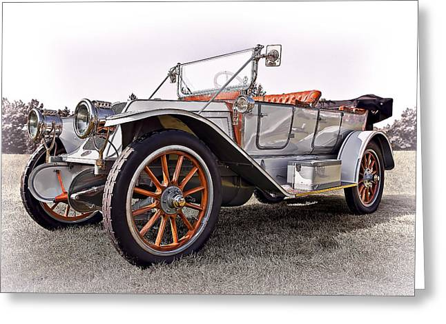 Up And Coming Greeting Cards - 1910 Franklin Model H Touring Greeting Card by Marcia Colelli