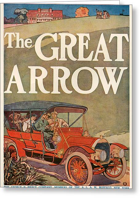 1907 Greeting Cards - 1910s Usa Pierce-arrow Magazine Advert Greeting Card by The Advertising Archives