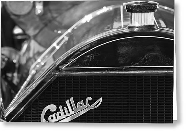1911 Cadillac Roadster Grille and Hood Ornament Greeting Card by Jill Reger