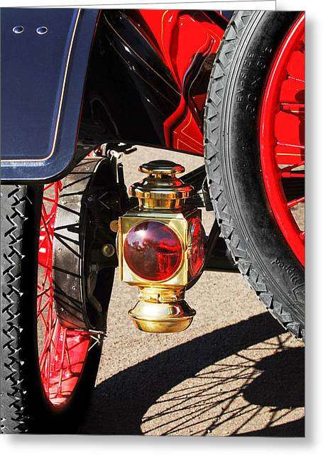 Ford Model T Car Greeting Cards - 1911 Ford Model T Torpedo 4 cylinder 25 HP Taillight Greeting Card by Jill Reger