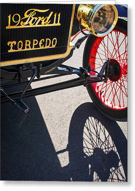 Best Sellers -  - Ford Model T Car Greeting Cards - 1911 Ford Model T Torpedo Grille Emblem Greeting Card by Jill Reger