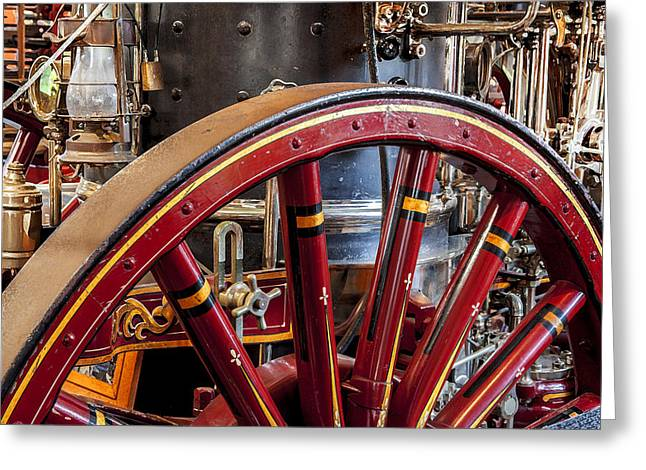 Spokes Greeting Cards - 1911 LaFrance Steam Powered Engine Greeting Card by Rich Franco