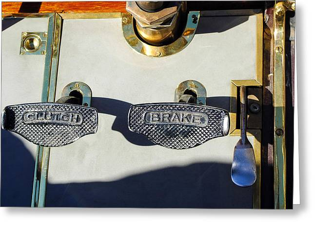 Clutch Greeting Cards - 1911 Pope Hartford Model W 4 Cylinder 50 HP 7 Passenger Brake-Clutch Pedals Greeting Card by Jill Reger