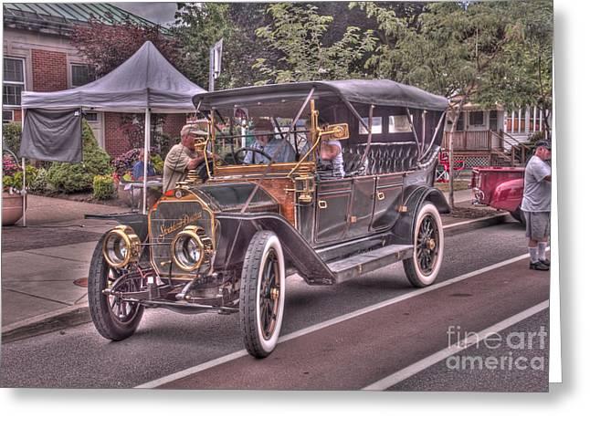 Indy Car Greeting Cards - 1911 Stoddard Dayton Greeting Card by Jim Lepard