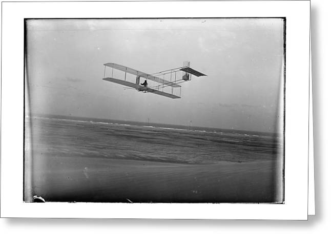 Aviation Greeting Cards - 1911 Wright Brothers Glider At Kitty Hawk Greeting Card by MMG Archives