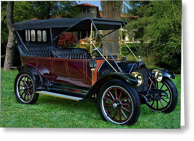 Touring Car Greeting Cards - 1912 REO the Fifth 4 Door Touring Car Greeting Card by Tim McCullough