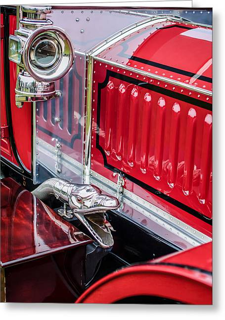 Limousine Greeting Cards - 1912 Rolls-Royce Silver Ghost Rothchild et Fils Style Limousine Snake Horn -0711c Greeting Card by Jill Reger