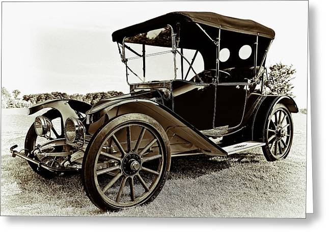 Up And Coming Greeting Cards - 1913 Argo Electirc Model B Roadster Coffee Greeting Card by Marcia Colelli