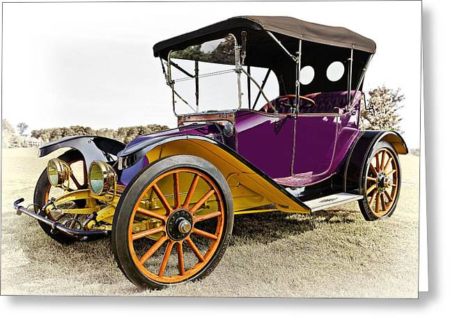 Up And Coming Greeting Cards - 1913 Argo Electric Model B Roadster Greeting Card by Marcia Colelli