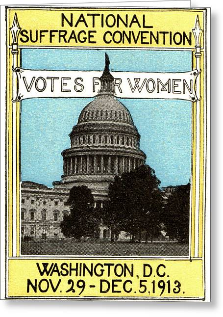 Voted Images Greeting Cards - 1913 Votes For Women Greeting Card by Historic Image
