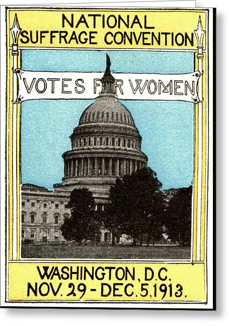1913 Votes For Women Greeting Card by Historic Image