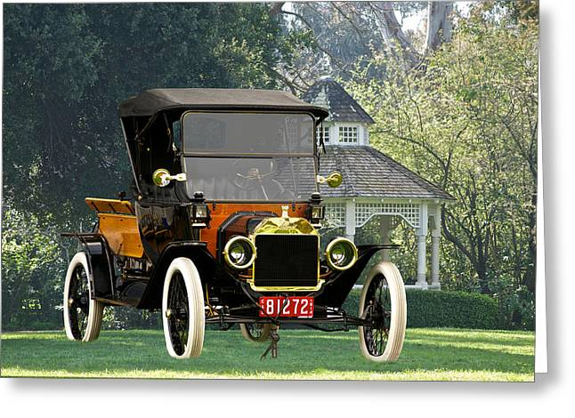 Ford Model T Car Greeting Cards - 1914 Model T Pick Up Greeting Card by Dave Koontz