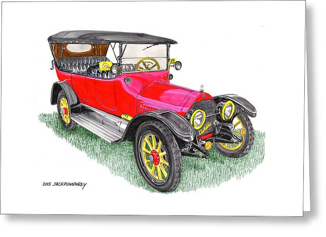 Replacing Paintings Greeting Cards - 1915 Cadillac Type 51 V 8 Greeting Card by Jack Pumphrey