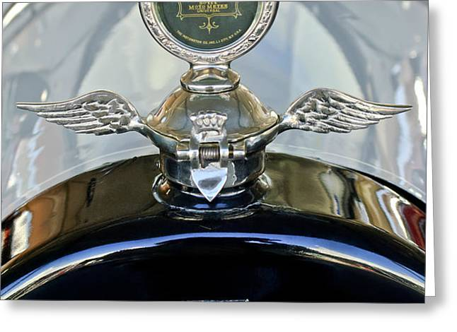 1915 Chevrolet Touring Hood Ornament Greeting Card by Jill Reger