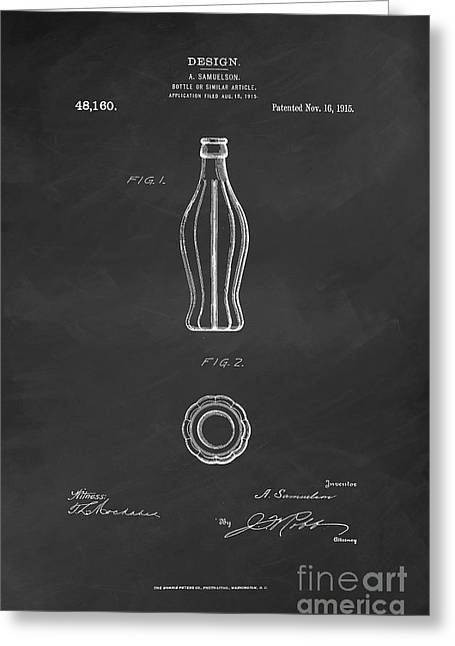 Kelly Digital Art Greeting Cards - 1915 Coca Cola Bottle Design Patent Art 6 Greeting Card by Nishanth Gopinathan