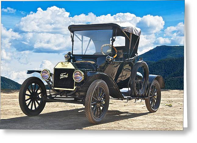 Ford Model T Car Greeting Cards - 1915 Ford Model T Roadster II Greeting Card by Dave Koontz