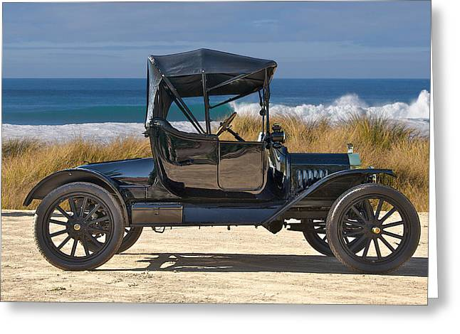 Ford Model T Car Greeting Cards - 1915 Ford Model T Roadster VII Greeting Card by Dave Koontz