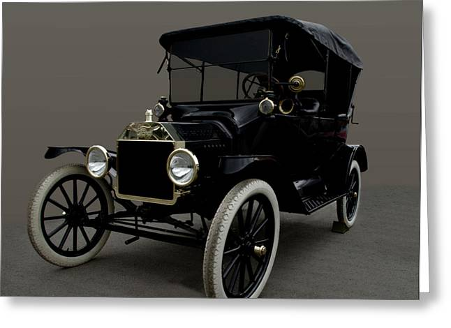 Ford Model T Car Greeting Cards - 1915 Ford Model T Greeting Card by Tim McCullough