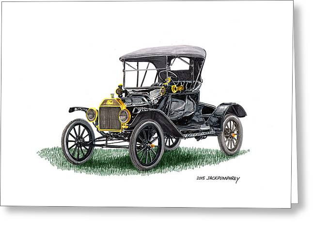 Ford Model T Car Greeting Cards - 1915 Ford Model T Tin Lizzie Greeting Card by Jack Pumphrey