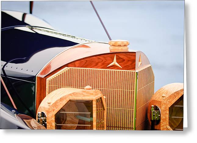 1915 Greeting Cards - 1915 Mercedes-Benz 28 Touring Grille 2 Greeting Card by Jill Reger