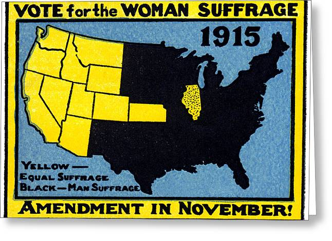 Voted Images Greeting Cards - 1915 Vote for Womens Suffrage Greeting Card by Historic Image