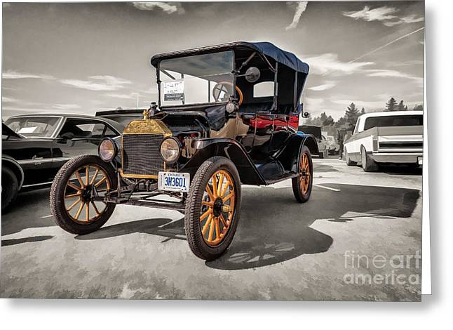 Ford Model T Car Greeting Cards - 1916 Ford Model T Greeting Card by Gene Healy