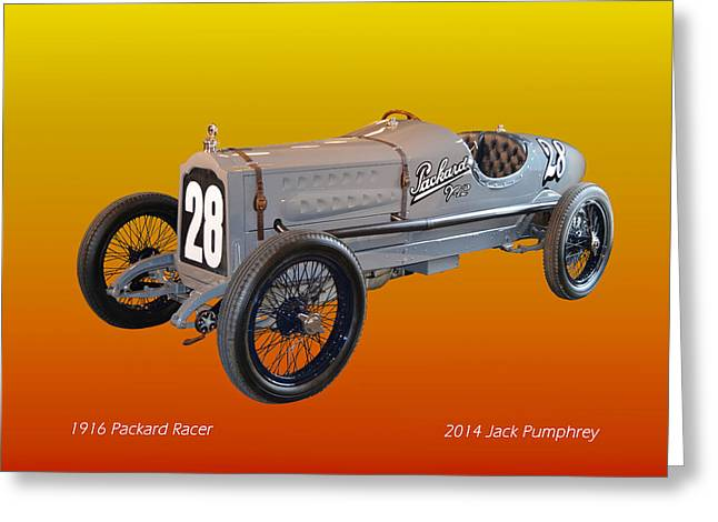 1916 Digital Greeting Cards - 1916 Packard Twin Six racer Greeting Card by Jack Pumphrey