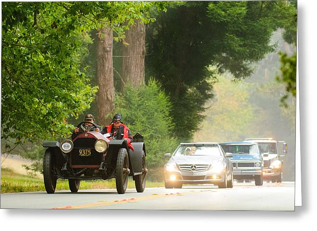 Rush Hour Greeting Cards - 1916 Stutz Series B Bearcat Greeting Card by Jill Reger