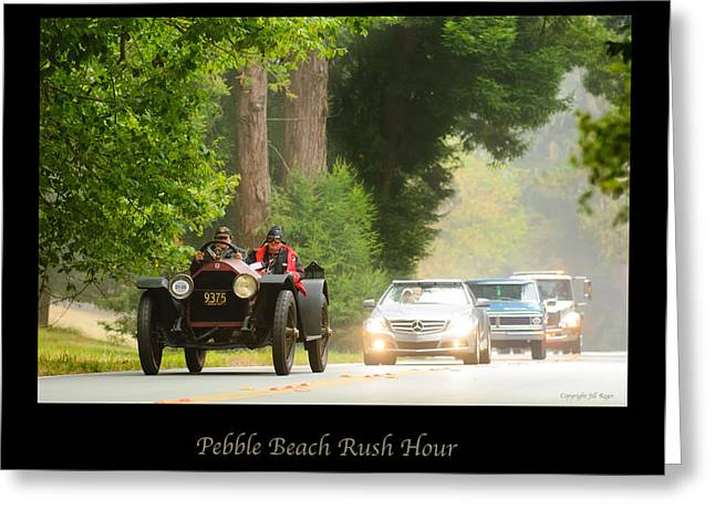 Rush Hour Greeting Cards - 1916 Stutz Series B Bearcat - Pebble Beach Rush Hour Greeting Card by Jill Reger