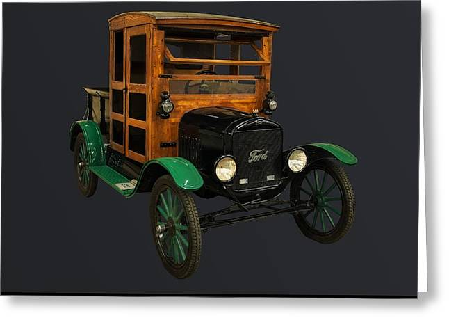 1910s Poster Art Greeting Cards - 1917 Ford Model T truck Greeting Card by Chris Flees