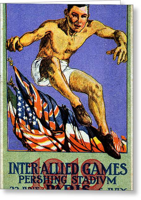 1919 Allied Games Poster Greeting Card by Historic Image