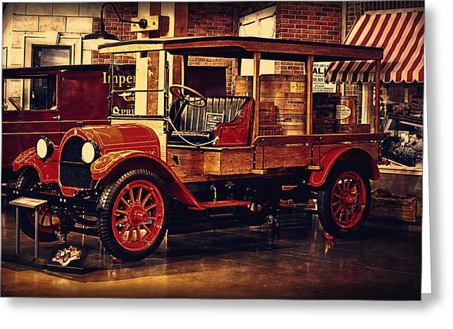 Motorized Greeting Cards - 1919 Oldsmobile 3/4 Ton Truck Greeting Card by Maria Angelica Maira