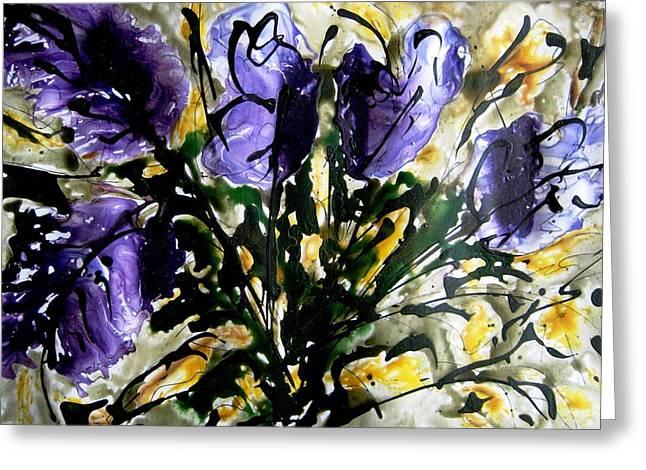 Flower Still Life Prints Greeting Cards - Heavenly Flowers Greeting Card by Baljit Chadha