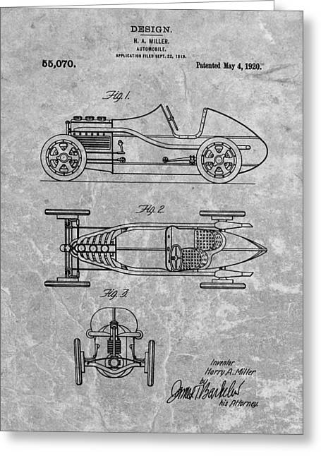 Mechanics Drawings Greeting Cards - 1920 Automobile Patent Greeting Card by Dan Sproul