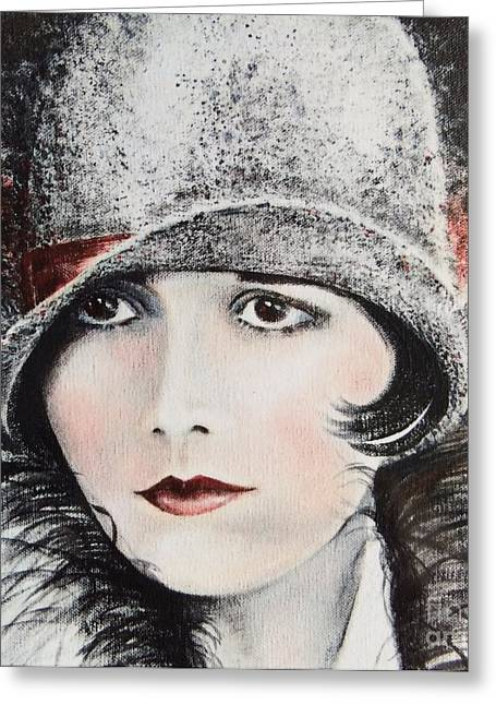 Liberation Greeting Cards - Louise Brooks Greeting Card by Barbara Chase